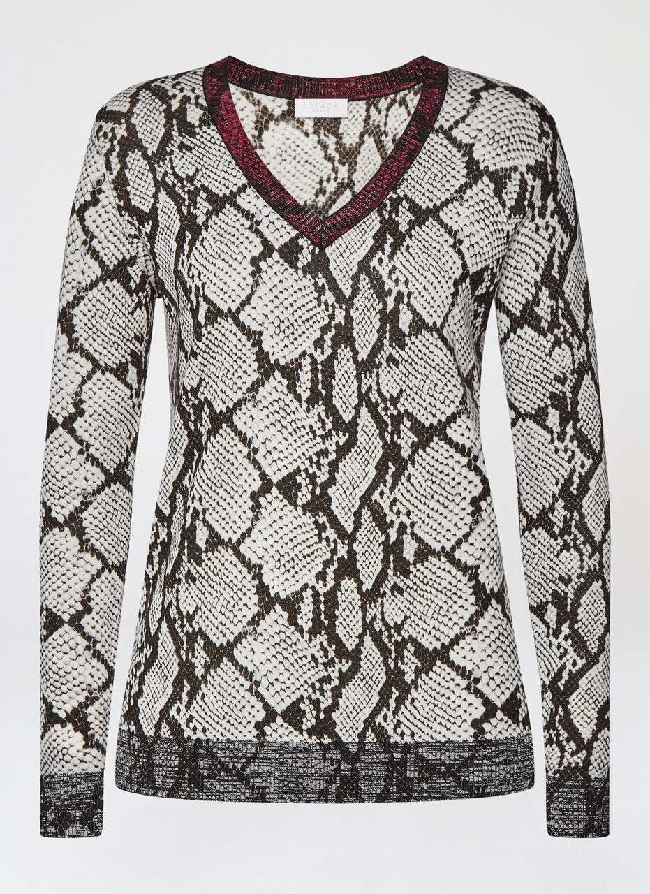 Python Print Wool Sweater - ESCADA