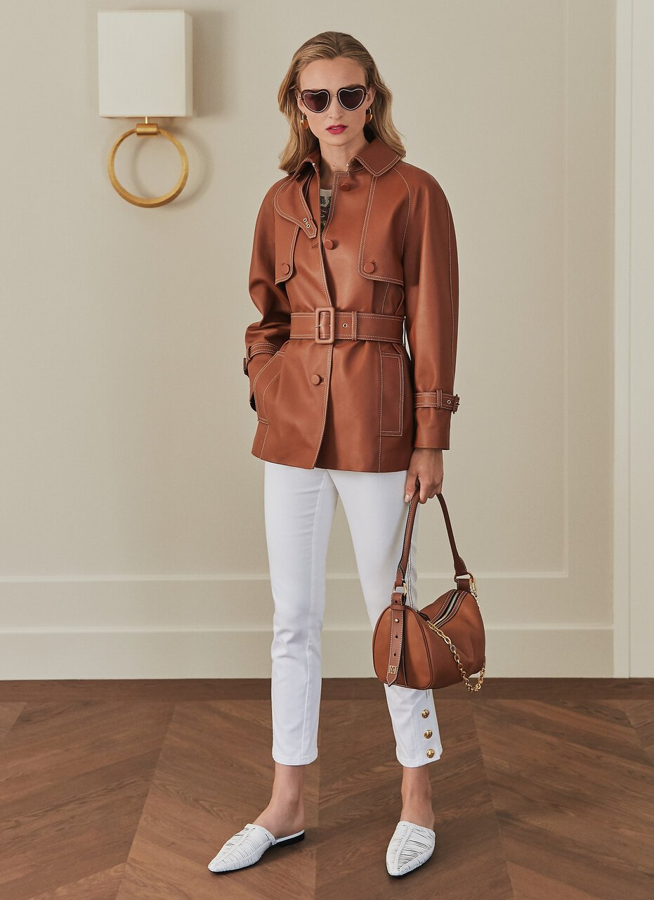 ESCADA Leather Trench Jacket