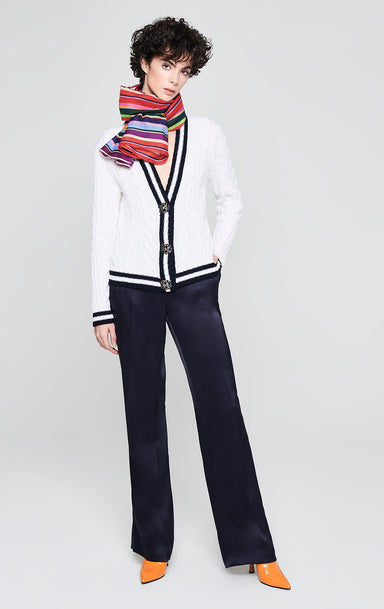 ESCADA Virgin Wool Jewel Button Cardigan