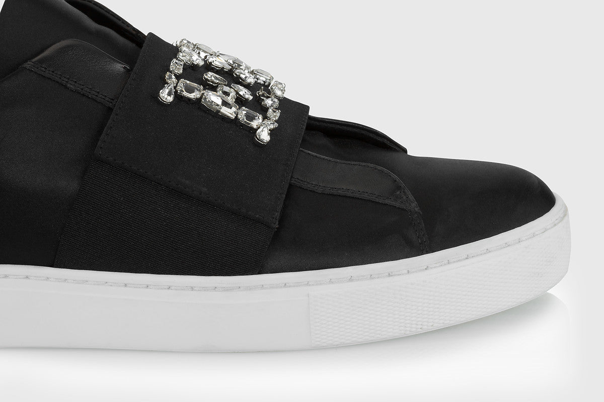 Crystal-Embellished Sneakers - ESCADA