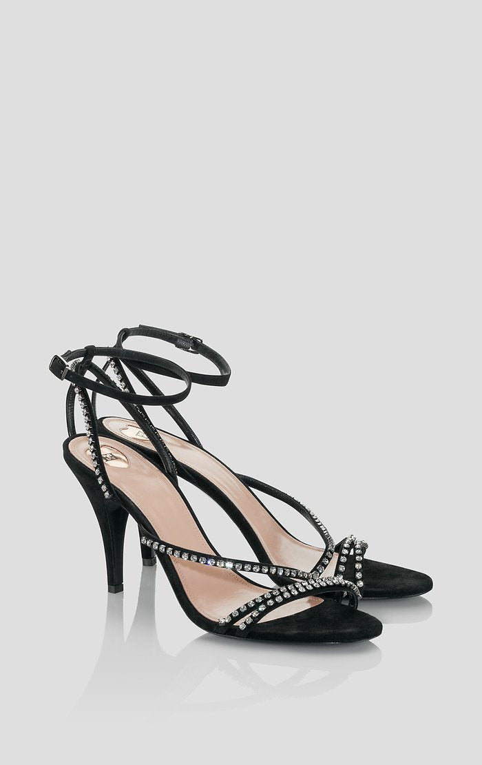 Suede Embellished Sandals - ESCADA