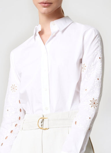 ESCADA Cotton Poplin Broderie Shirt