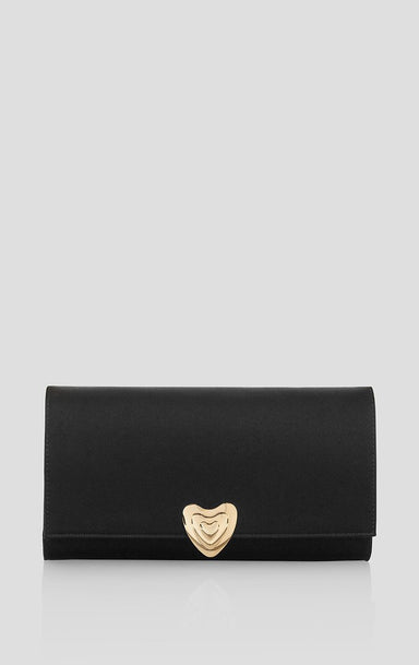 ESCADA Satin Heart Evening Bag