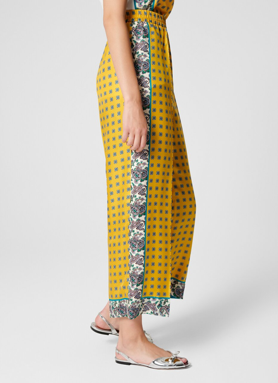 Silk Foulard Wide Leg Pants - ESCADA