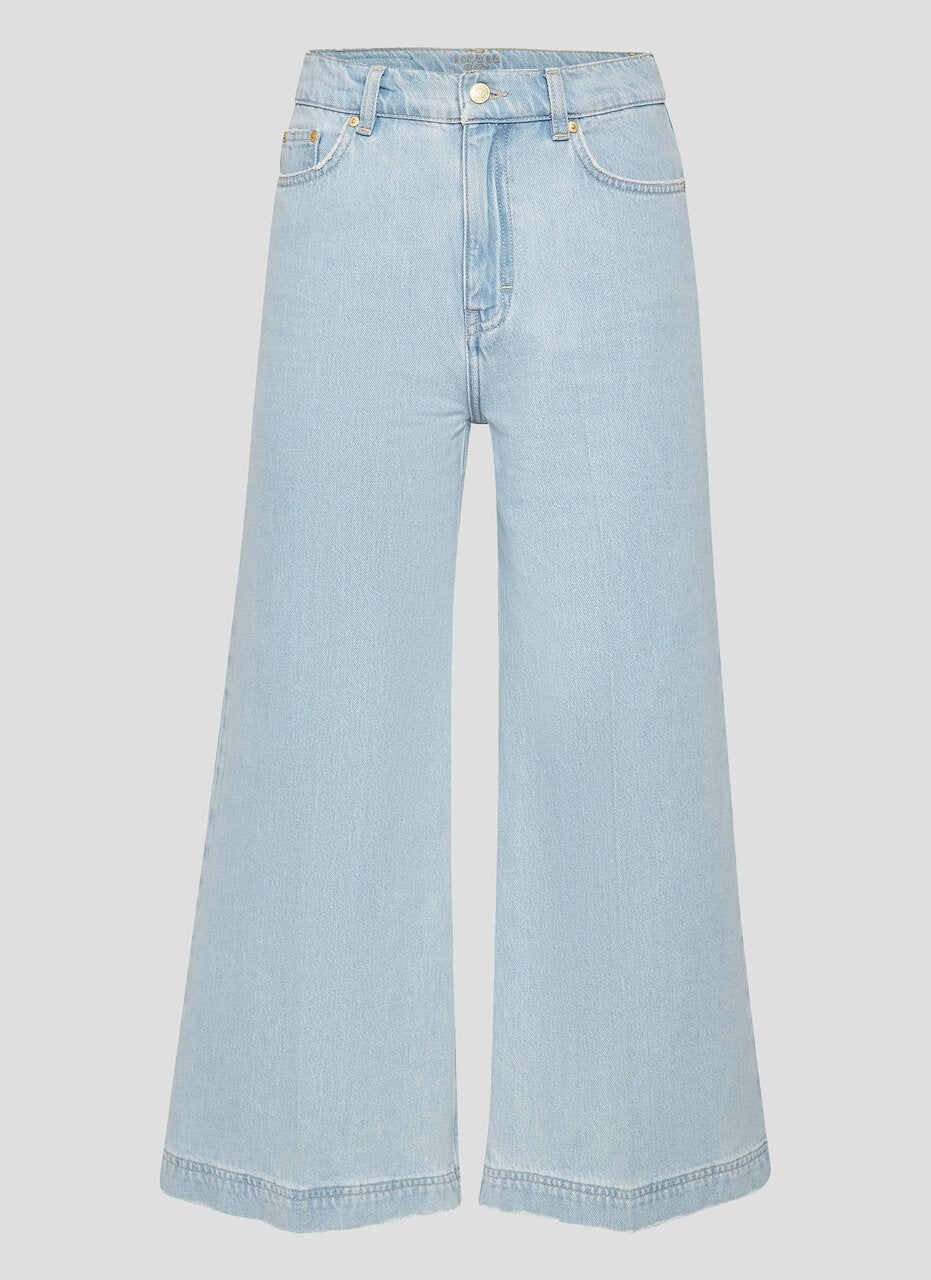 ESCADA Cropped Wide Leg Jeans