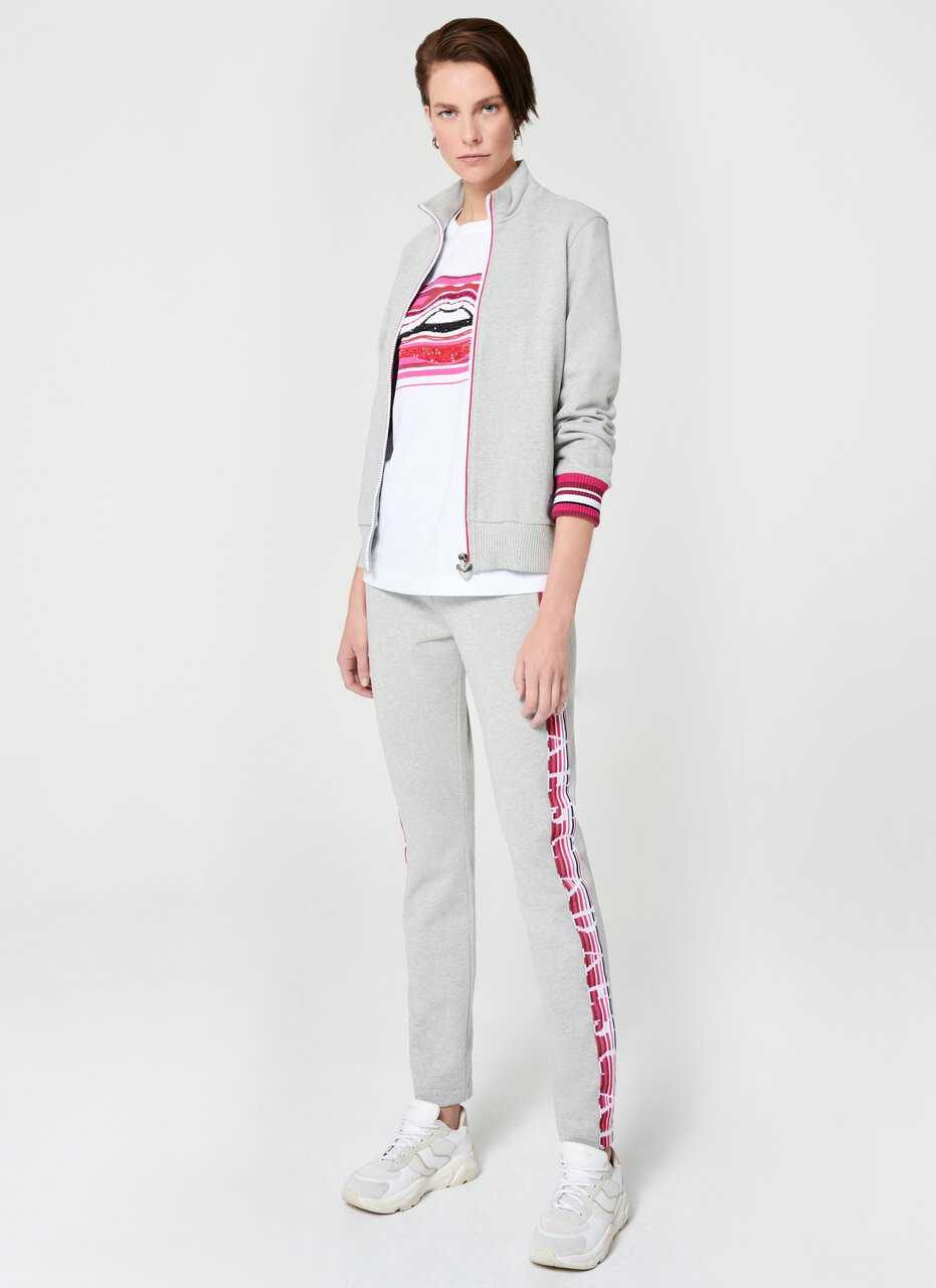 Sporty French Terry Tracksuit Pant - ESCADA