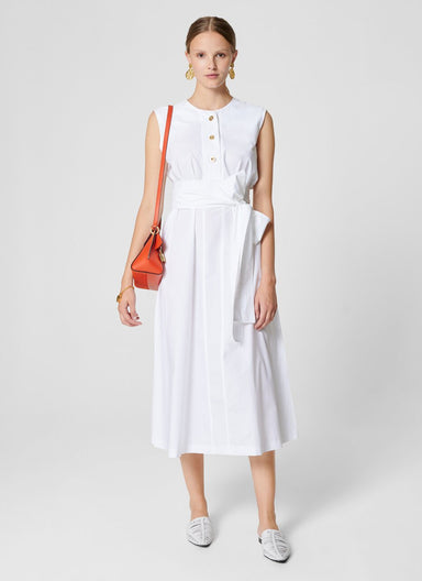Cotton A-line Midi Dress - ESCADA