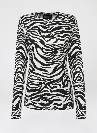 All-over printed Zebra T-Shirt - ESCADA