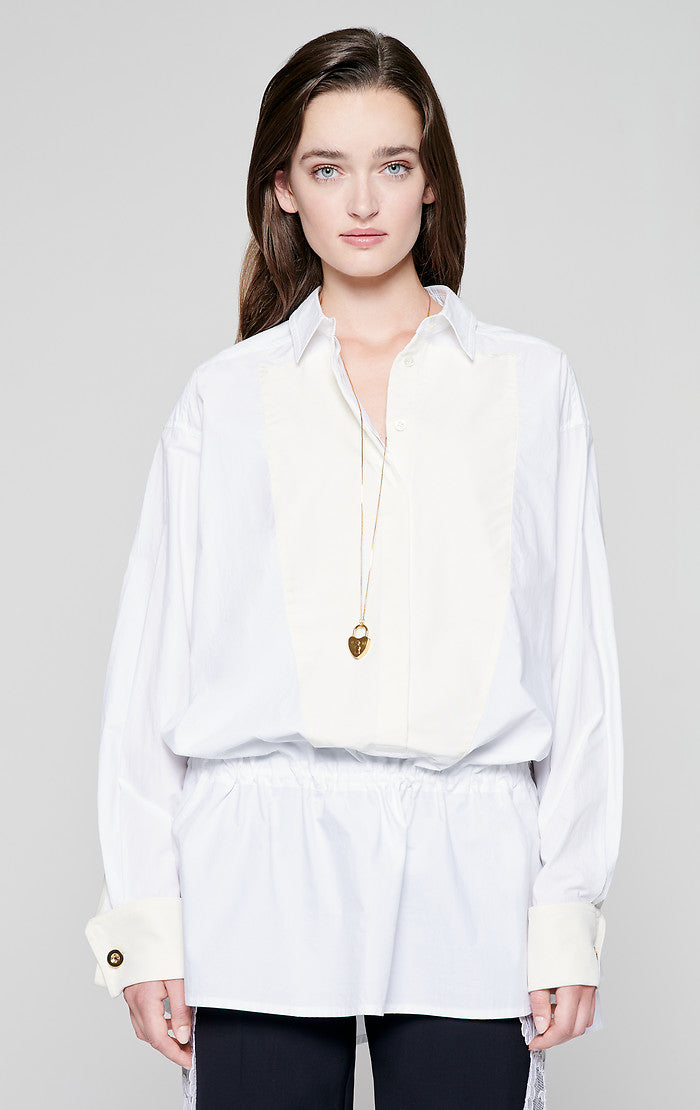 ESCADA Residency Collection - Cotton and Silk Tunic Blouse