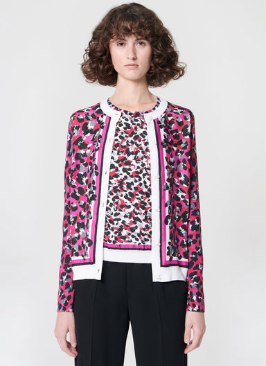 Printed wool silk cardigan - ESCADA