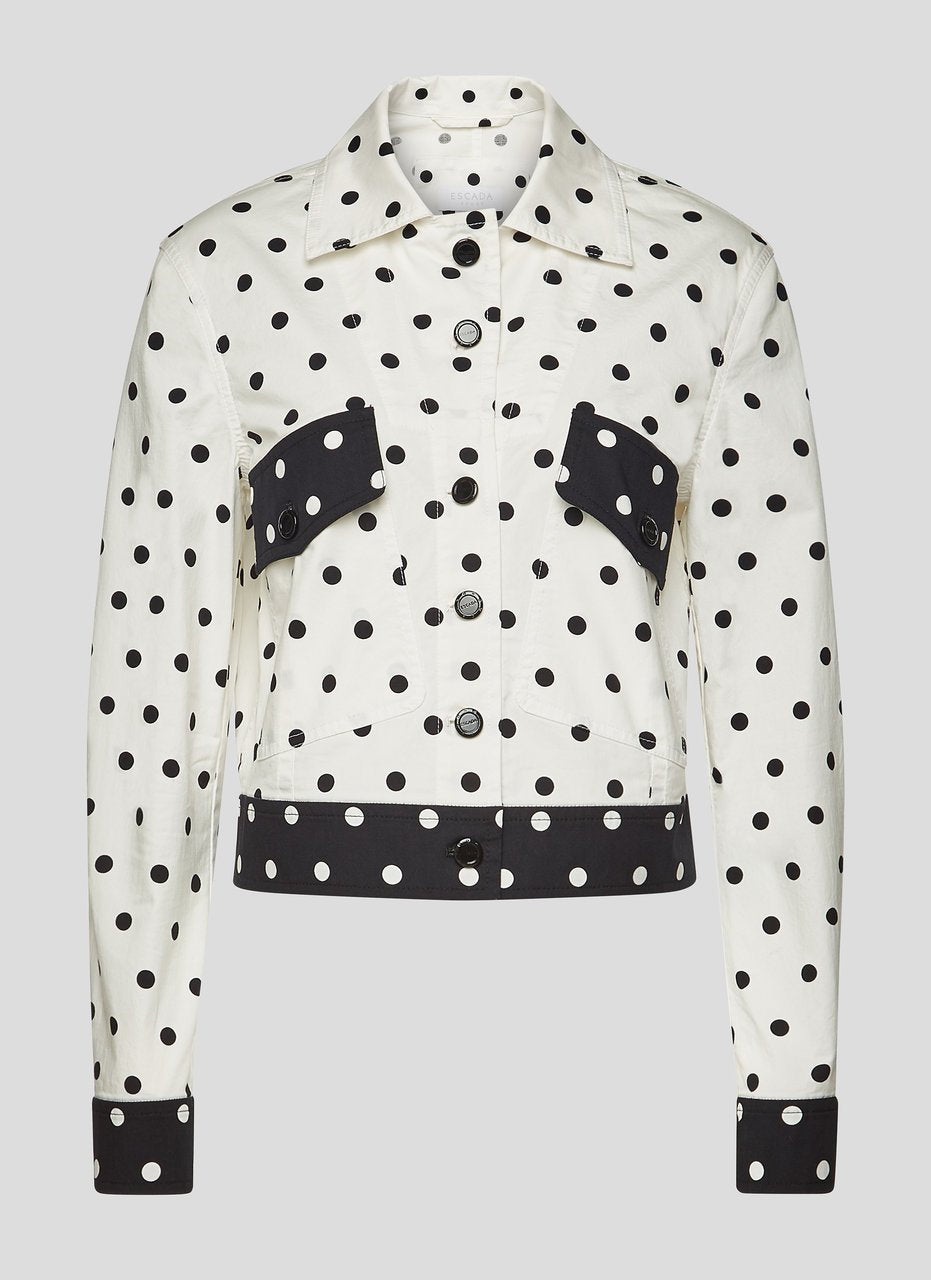 ESCADA Cotton Polka Dot Jacket