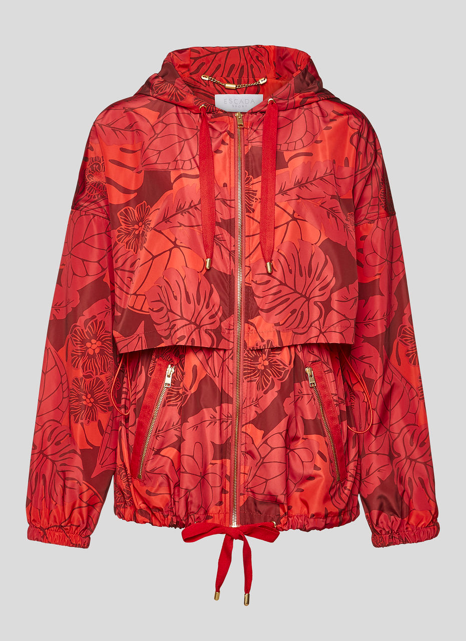 Printed Nylon Hooded Jacket - ESCADA