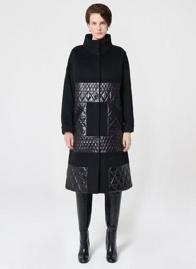 ESCADA Nylon Padded Wool Coat