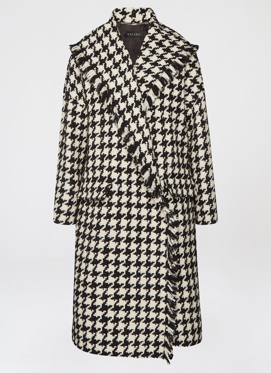 ESCADA Statement wool houndstooth coat