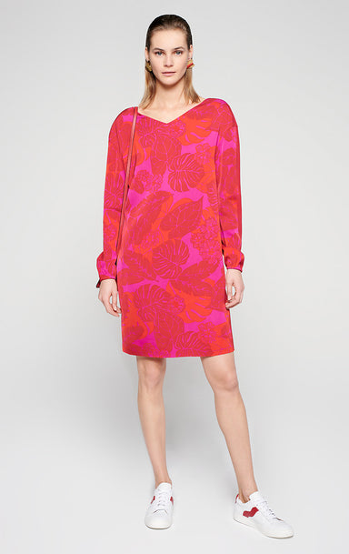 Material Mix Floral Dress - ESCADA