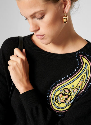 Cashmere Cotton Embroidered Sweater - ESCADA