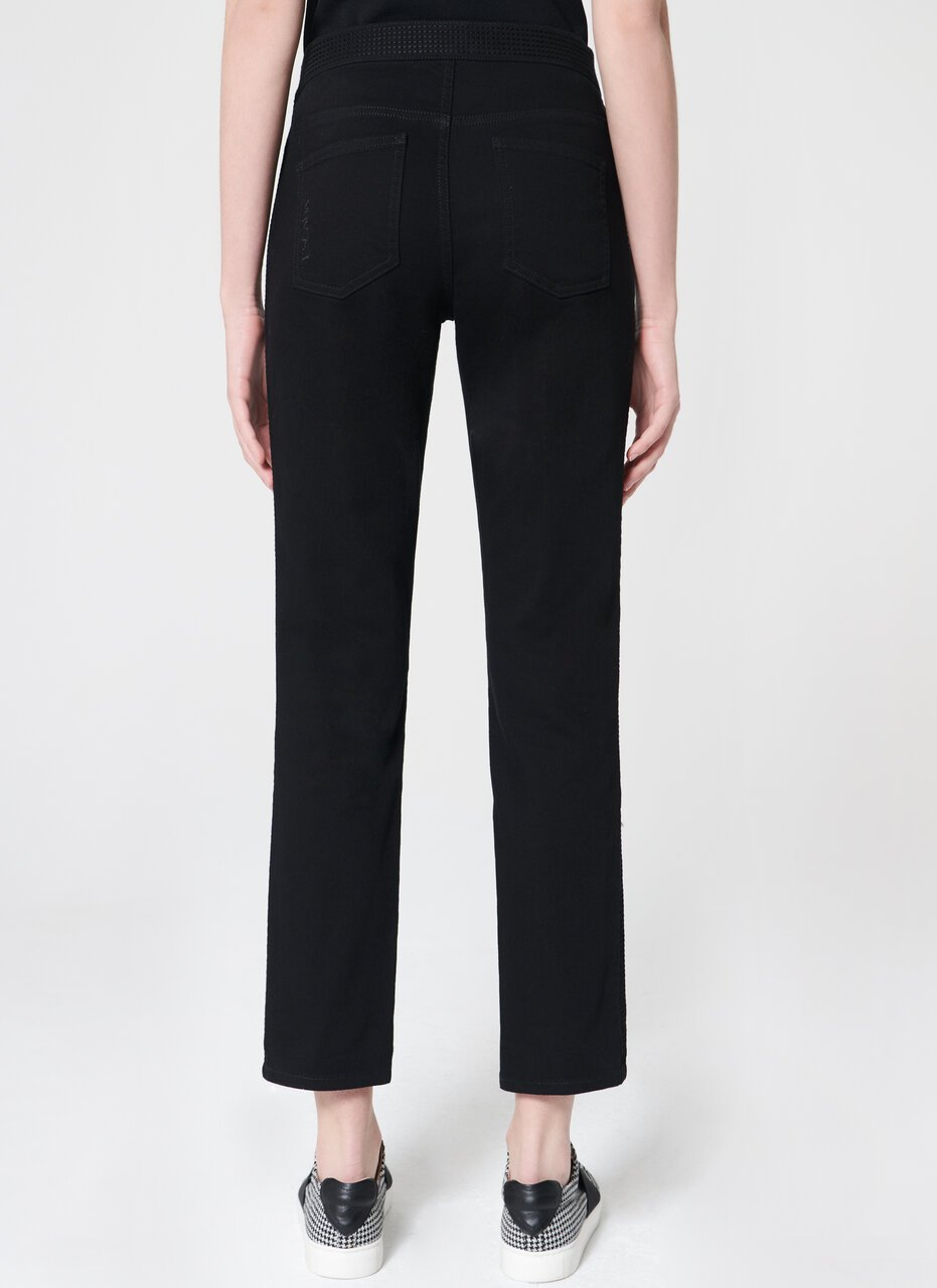 ESCADA Dark denim with tuxedo stitching