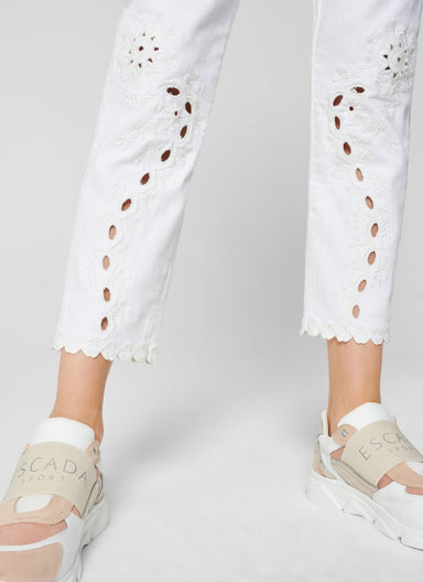 ESCADA Broderie Ankle Jeans
