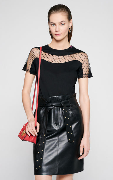 ESCADA Jersey and Tulle T-shirt