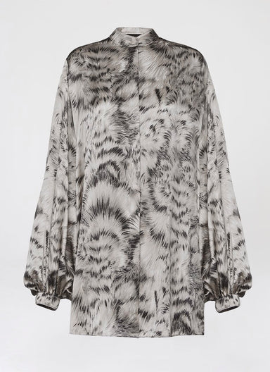 Pigment printed silk tunic - ESCADA