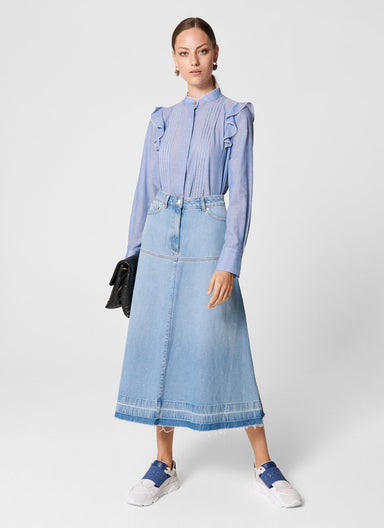 Denim Midi Skirt - ESCADA