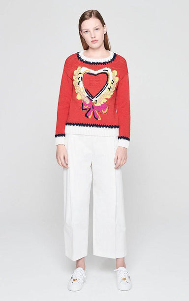 Embroidered Heart Sweater - ESCADA