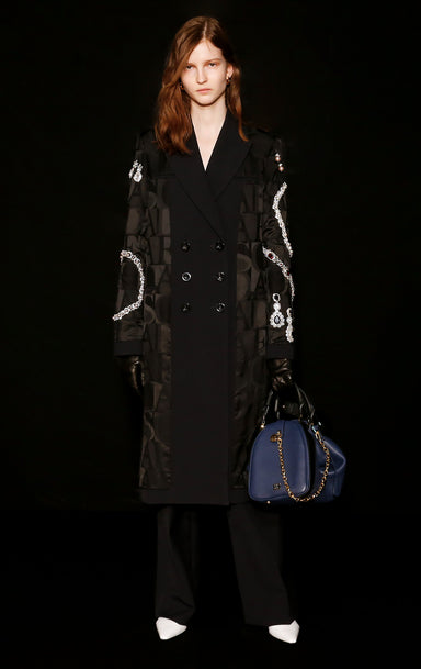 Residency Collection - Wool Silk Embellished Coat - ESCADA