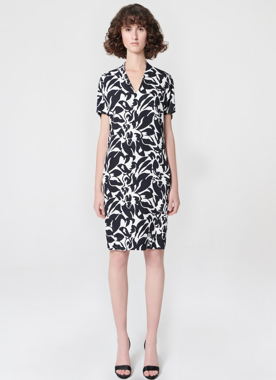 Printed viscose dress - ESCADA