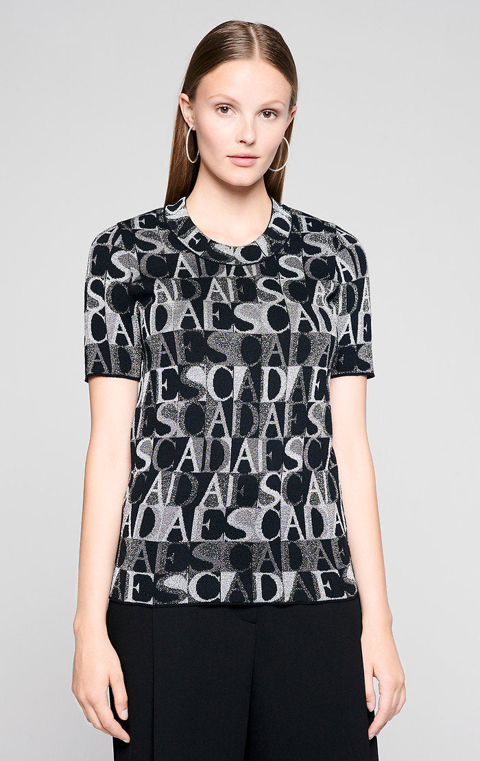 Logo Jacquard Lurex Top - ESCADA