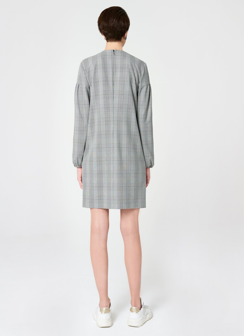 ESCADA Viscose Stretch Check Design Dress