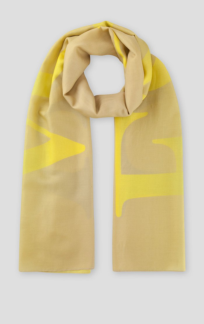 Cotton Silk Logo Scarf