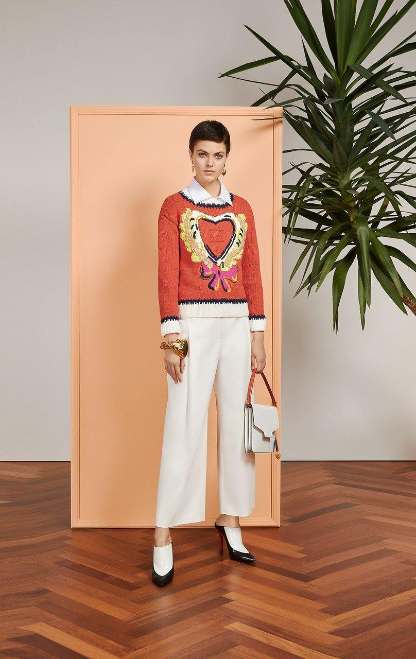 ESCADA Embroidered Heart Sweater