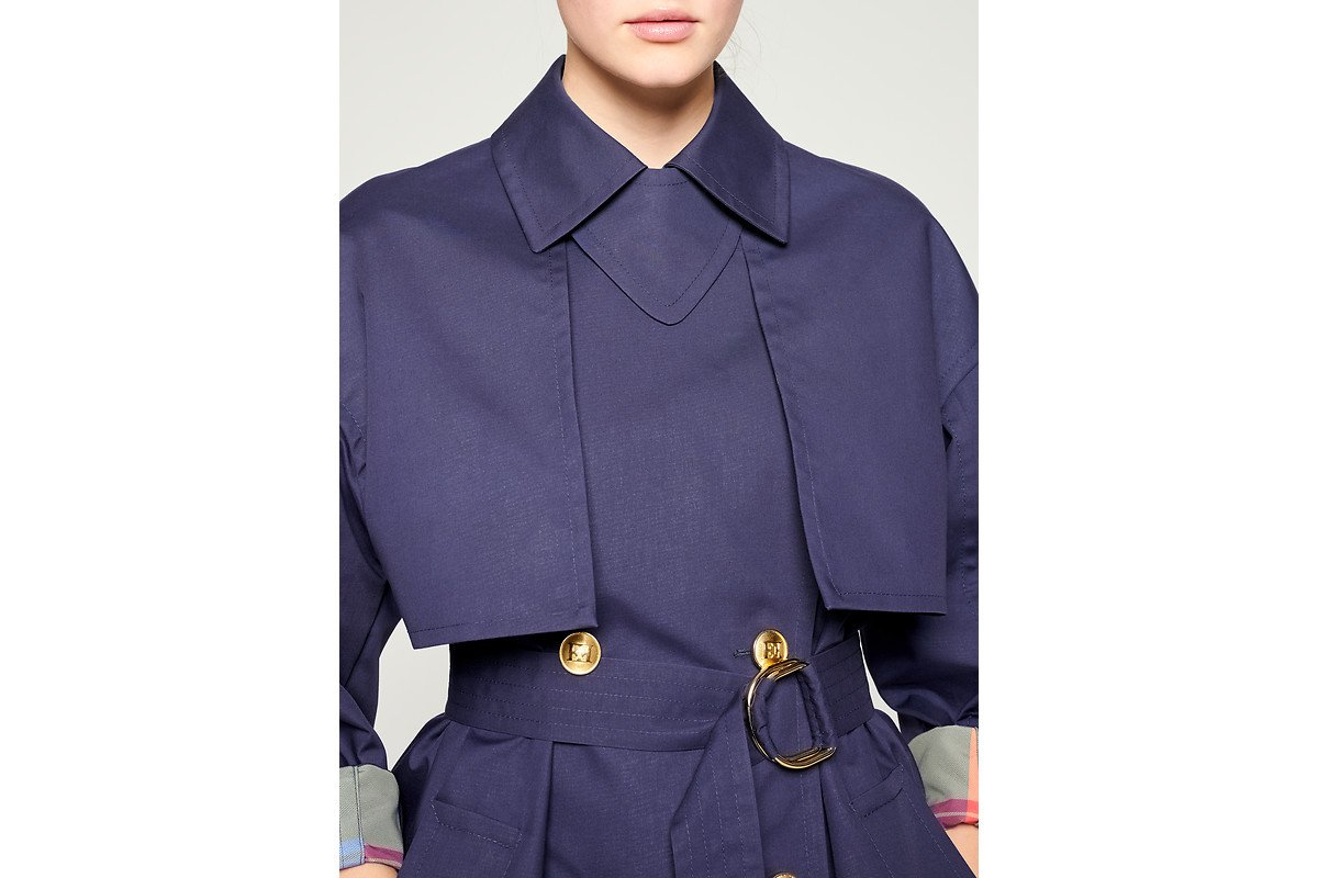 ESCADA Bonded Cotton Blend Trench Coat