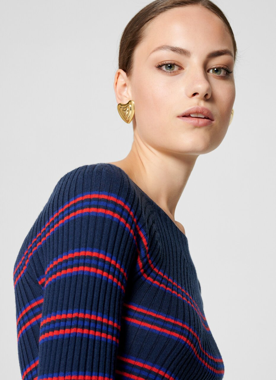 Virgin Wool Stripe Sweater - ESCADA