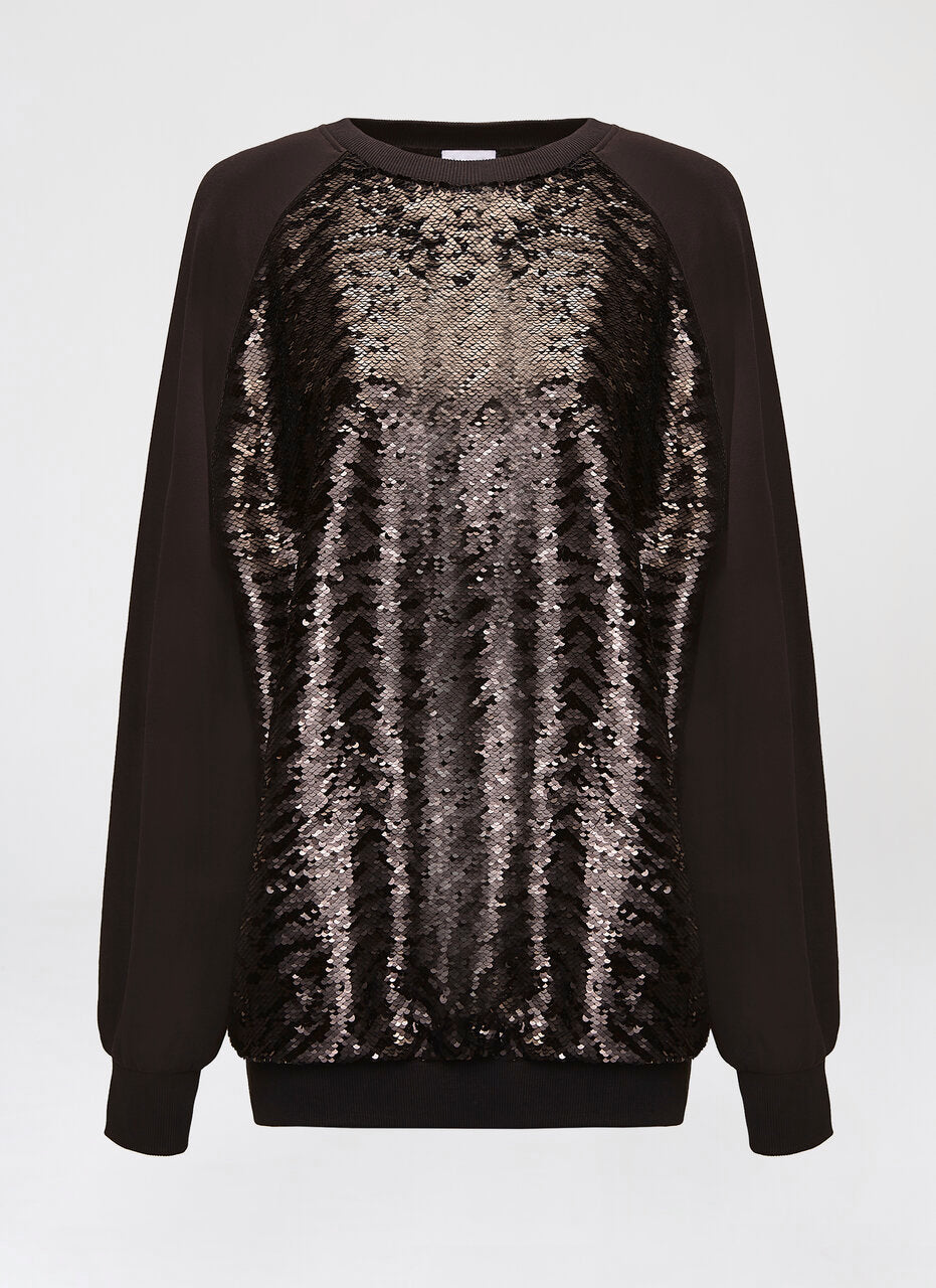 Sequins Embroidered Sweatshirt - ESCADA