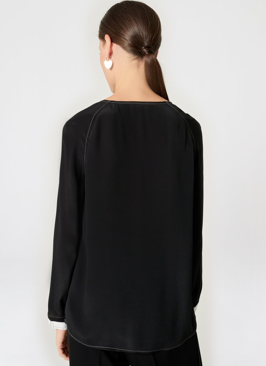 ESCADA Silk Blend Tunic Blouse