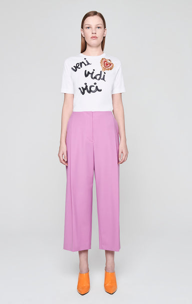 Wool Pleated Wide Leg Pants - ESCADA