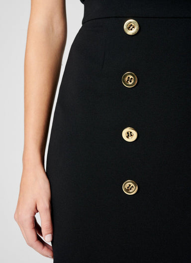 Jersey Button-Detail Pencil Skirt - ESCADA
