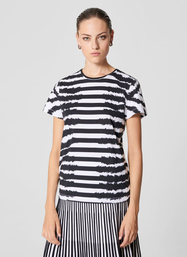 Zebra Stripe T-shirt - ESCADA