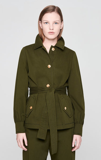 ESCADA Cotton Belted Utility Jacket