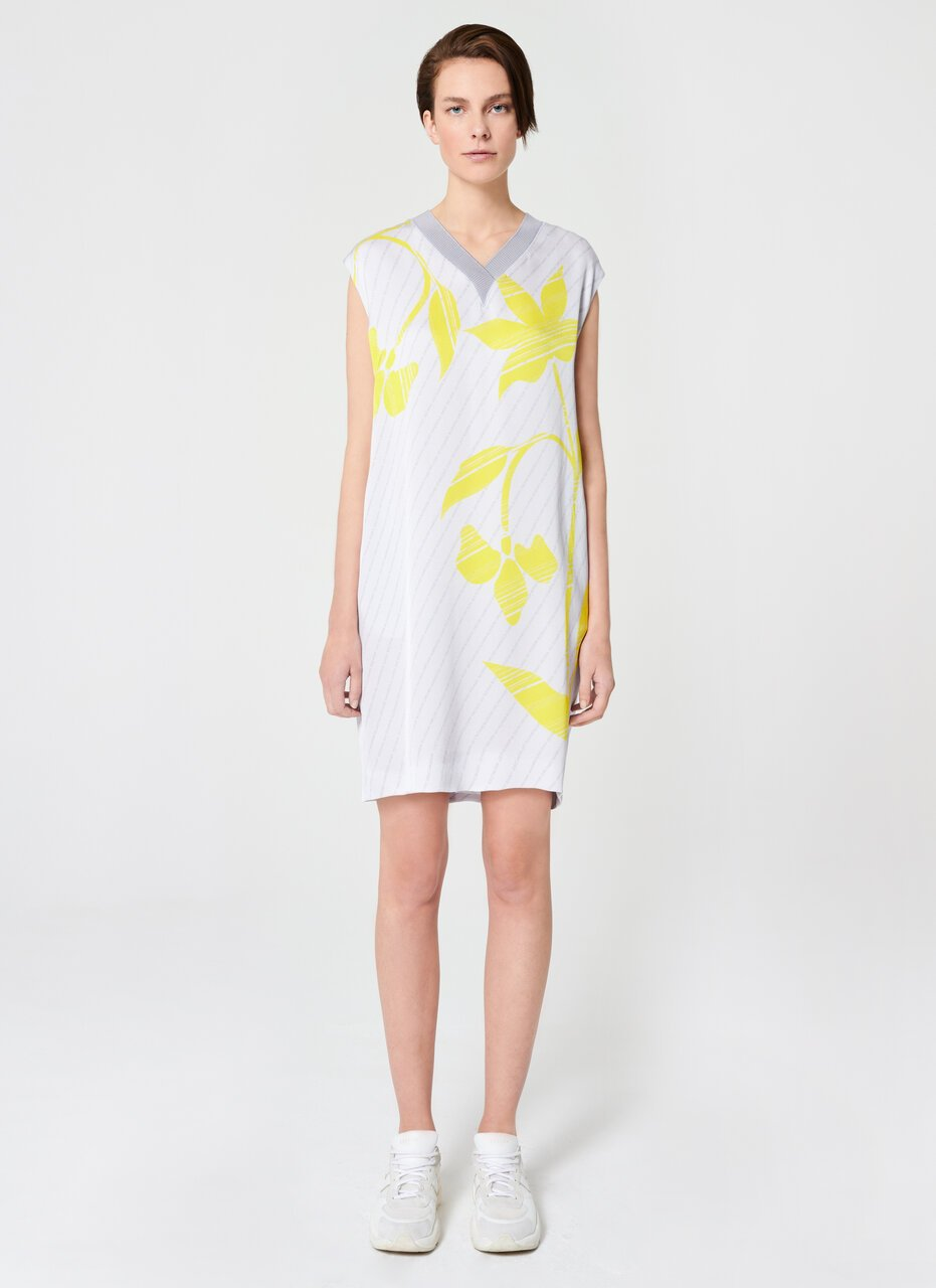 ESCADA Flower Print Viscose Crêpe Dress