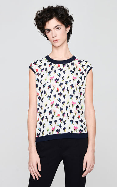 ESCADA Wool Silk Floral Top