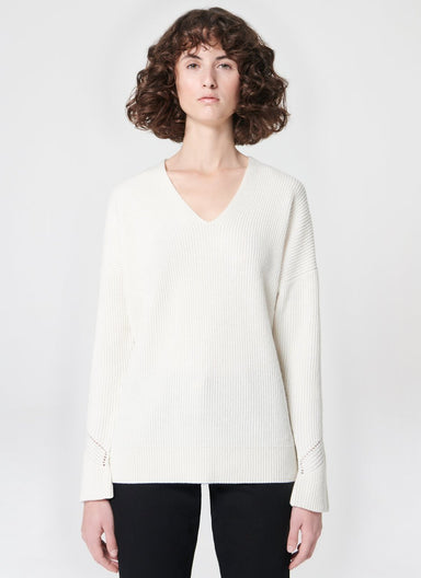 Cardigan Stitch Wool Blend Sweater - ESCADA