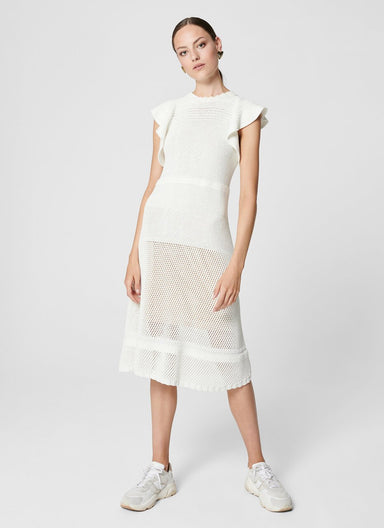 Cotton Crochet Knit Dress - ESCADA