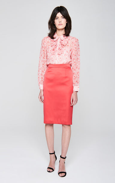 ESCADA Satin Pencil Skirt