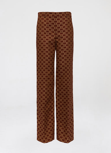 Escada cotton mix Logo Jacquard pant - ESCADA