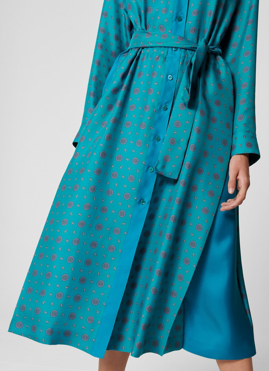 ESCADA Silk Foulard Print Dress