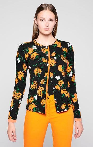 ESCADA Wool and Silk Printed Cardigan