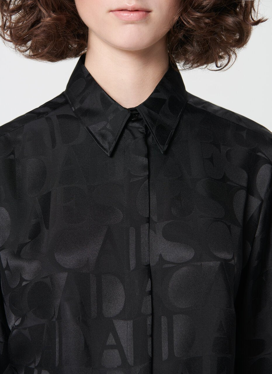 ESCADA Logo jacquard silk mix blouse