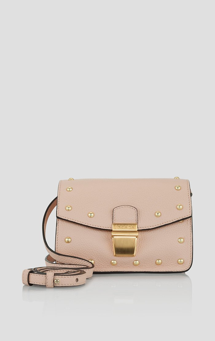ESCADA Studded Leather Crossbody Bag